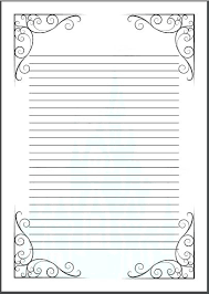 Lined Paper Template Doc Templates Pad 1 Line Voipersracing Co
