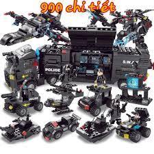 900 CHI TIẾT] Bộ Đồ Chơi Lắp Ráp Xếp Hình LEGO Xe Cảnh Sát, Máy Bay Chiến  Đấu, RoBot Biến Hình, Biệt Đội SWAT