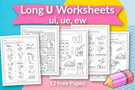 Writing and alphabet worksheets, a phonics workbook series and clipart. Long U Worksheets Free Word Work
