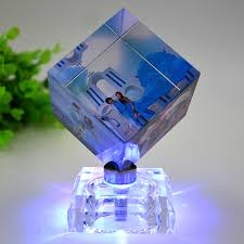 <b>DIY Rotating Square Shaped</b> Crystal Photo Frame Customized ...