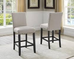 counter height chairs set of 2. Wonderful Counter Biony Tan Fabric Counter Height Stools With Nailhead Trim Set Of 2 For Chairs Of O