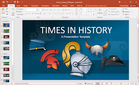 Power Point Tempaltes Animated Times In History Powerpoint Template