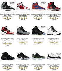 Jordan Retro Chart Air Jordan Chart