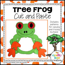 tree frog template tree frog craft by crafty bee creations teachers pay teachers