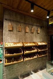 Small Grocery Store Design Interior Bread Board Natural Colors