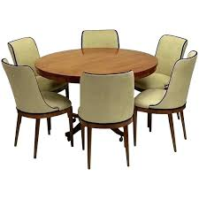 art deco round dining table room set gorgeous antique by p six chairs and tab