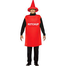 Ketchup Adult Halloween Costume One Size