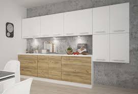 Küchenzeile Küchenblock 320cm Weiß Weiß Hochglanz Wildeiche Neu