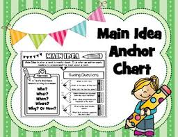 5 Ws Main Idea And Supporting Details Anchor Chart