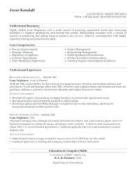 Sample Loan Officer Resume Resume Creator Simple Source