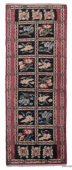 black red new hand knotted anatolian runner rug 2 1 x