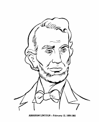 Small Picture USA Printables President Abraham Lincoln coloring page