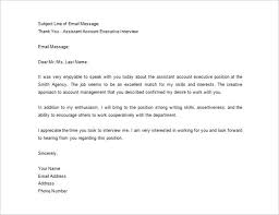 Thank You Emails After Interview Template Business