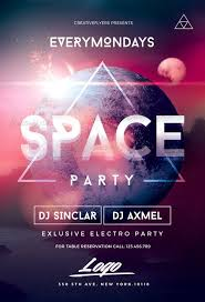 Flyer Poster Templates Space Party Flyer Templates Psd Space Party Flyer