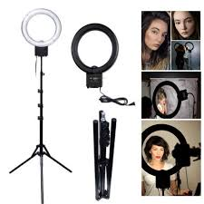 makeup light stand. studio 40w 5400k daylight fluorescent diva ring light with 185cm tripod stand for video photo makeup a