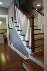 Craftsman Staircase love all the colors the dark floors next to the white trim 3555 by xevi.us