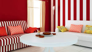 Wallpaper And Paint Living Room Incredible Living Room Interior Decorating Ideas With White Red
