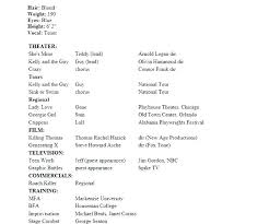 Model Resume Sample Modeling Template Word No Experience Actress Co