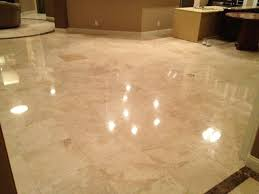 Polished Travertine Floor