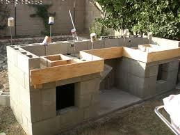 Cinder Block Outdoor Kitchen Outdoor Kitchen Concrete Countertops Diy