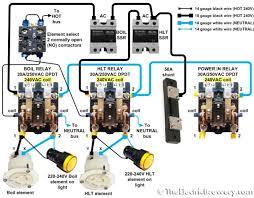 wiring diagram contactor relay wiring diagrams relay box wiring contactor home diagrams