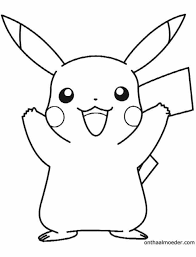 Pikachu Kleurplaat Kinder Kleurplaten Pokemon Coloring Pages