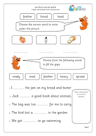 From novice to master learners. Ea Short E Sound Words Letters And Sounds By Urbrainy Com