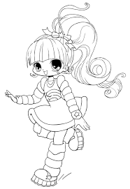 Coloring Free Printable Chibi Colorings For Kids Cute Anime L