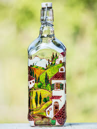 Olive Oil Decorative Bottles Hand Painted Oil Bottle Olive Oil Cruet Vinegar Glass Dispenser 63