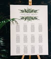 Lana Greenery Seating Chart Template Greenery Wedding