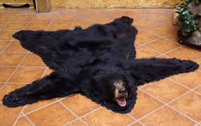 black bear skin rugs for