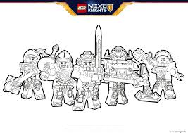 Coloriage Lego Nexo Knights Formation Jecolorie Com