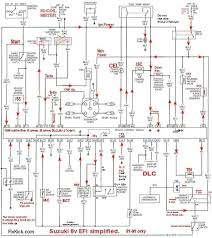 tracker fuse diagram schematics to run engine 92 95 8v tbi ecu simplified schematic