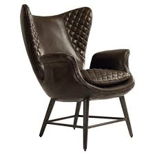 high back living room chair. Volker Industrial Walnut Brown Leather Highback Living Room Chair | Kathy Kuo Home High Back G