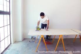 homemade modern diy ep64 conference table step 3