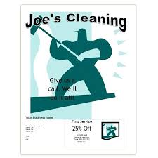 Commercial Cleaning Flyers Word Office Cleaning Flyer With Coupon Free Business