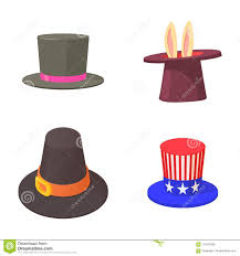 Top Hat Cake Designs Top Hat Icon Set Cartoon Style Stock Vector Illustration