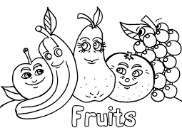 Cartoon Fruits Coloring Pages Kids Pinterest Colouring Pages