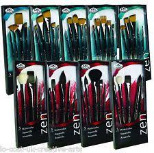 royal langnickel artist zen 73 series paint brush sets acrylic watercolour oil