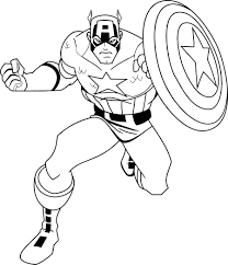 Free Captain America Coloring Pages With