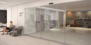 assa abloy sl500 all glass sliding door system with semi transpa option for interior