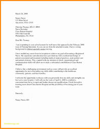 How To Write A Nursing Cover Letters 9 10 Example Of A Cover Letter For Nursing Lasweetvida Com