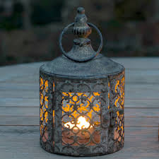 Baby Lattice Moroccan Style Candle Lantern - outdoor decorations