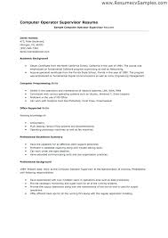 As400 Computer Operator Cover Letter Goprocessing Club