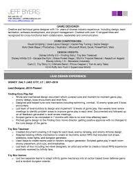 Game Design Resume Professional User Manual Ebooks