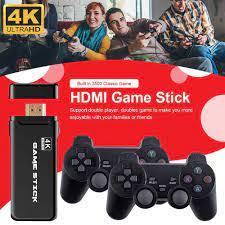 Game 4K USB Không Dây Tay Cầm 3500 Trò Chơi Cổ Điển Dính Video Máy Chơi Game  8 Bit Mini Retro Bộ Điều Khiển Đầu Ra Kép người Chơi|Video Game Consoles