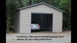 garage door openers for steel roll-up doors....John Tyler - YouTube