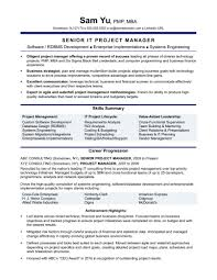 Template Experienced It Project Manager Resume Sample Monster Com