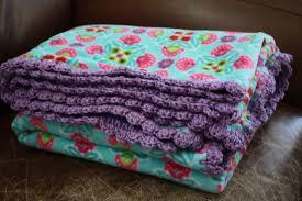 free crochet edging patterns for fleece baby blankets diy blanket