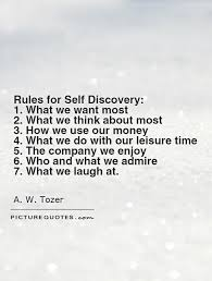 Self Discovery Quotes Awesome Rules For Self Discovery 48 What We Want Most 48 What We Think